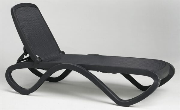 Charcoal Omega Sun Lounger in Showroom