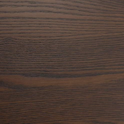 Solid Ash Table Top 800×800 – Walnut Stain