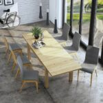 Henryk 7 Piece Dining Suite – Natural