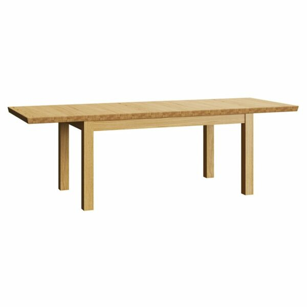 Henryk Wooden Extendable Dining Table – Natural (Pictured Extended)