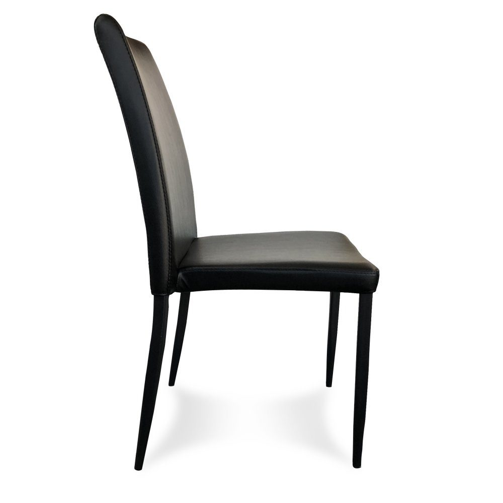 Manoli Dining Chair – Black (Profile View)