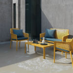 Net 4 Piece Lounge Setting - Mustard