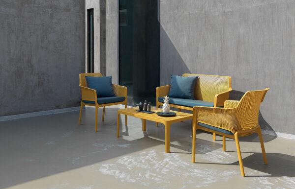 Net 4 Piece Lounge Setting – Mustard