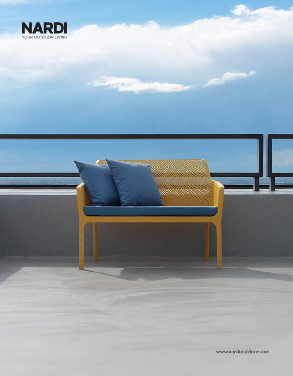 Net Bench 2-Seater – Mustard (Pictured on Balcony)