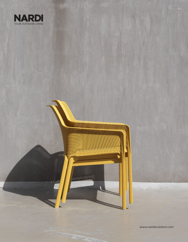 Net Relax Lounge Chair – Mustard (Two pictured stacked)