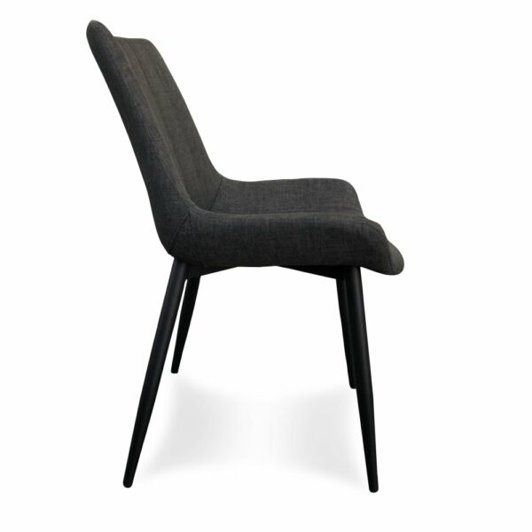 Palermo Dining Chair - Grey (Profile View)