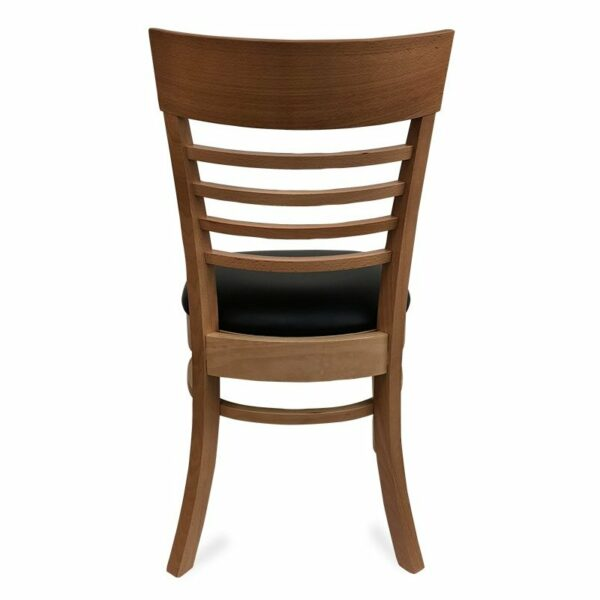 Chicago Wooden Dining Chair - Natural (Back View)