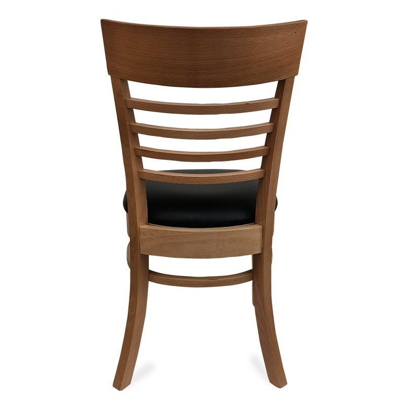 Chicago Wooden Dining Chair – Natural (Back View)