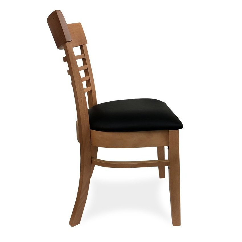 Chicago Wooden Dining Chair – Natural (Profile View)