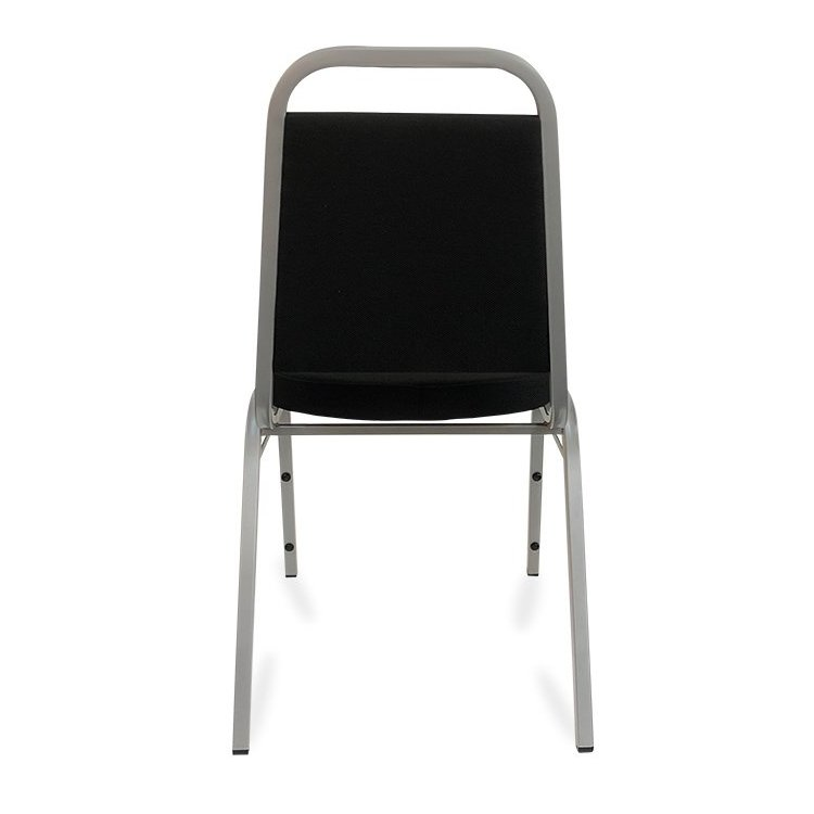 Event Chair - Black & Silver (Back View)