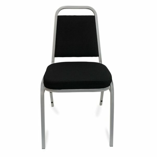 Event Chair - Black & Silver (Front View)