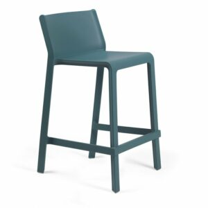 NARDI Trill Kitchen Counter Bar Stool - Teal