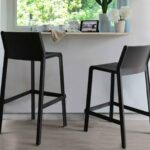 Trill Kitchen Counter Bar Stool and Trill Tall Bar Stool – Charcoal