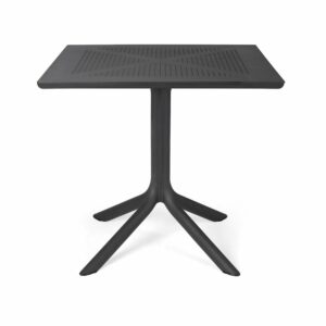 NARDI Clip 80 Outdoor Patio Table – Charcoal