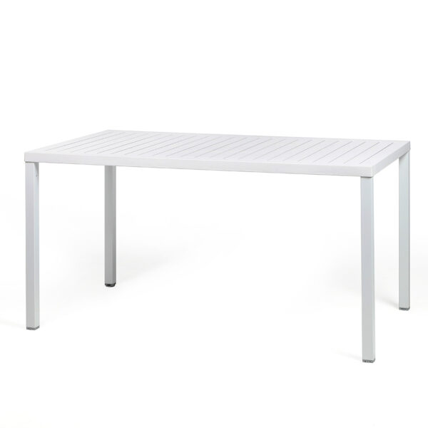 NARDI Cube 140x80 Outdoor Dining Table - White