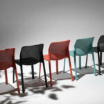 NARDI-Bit-Chairs-in-Coral-Charcoal-and-Spearmint
