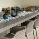 NARDI Net Rio 9-Piece Dining Setting – Taupe