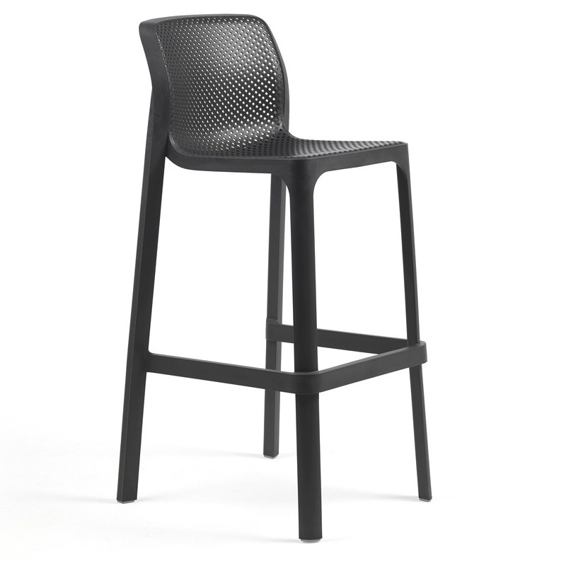 Net Tall Bar Stool – Charcoal