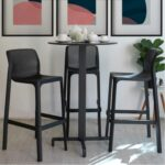 Net Tall Bar Stools Indoors with Bar Leaner