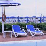 Alfa 3 Piece Sun Lounger Set - White & Blue