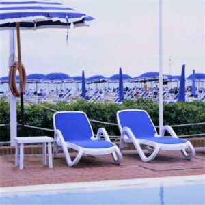 Alfa 3 Piece Sun Lounger Set - White & Blue