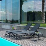 NARDI Atlantico 3-Piece Sun Lounger Set - Charcoal