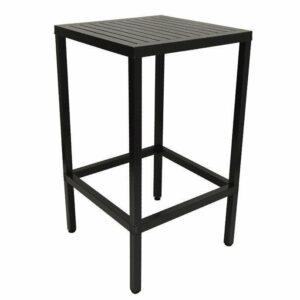 Cube 70 Outdoor Bar Leaner - Charcoal