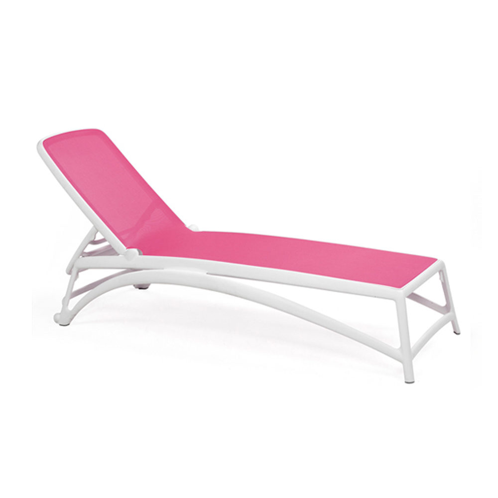 Atlantico Sun Lounger – White & Pink