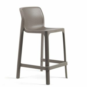 Net Kitchen Counter Bar Stool - Taupe