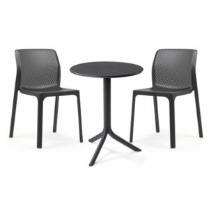 The Bit Spritz 3-Piece Bistro Set in Charcoal