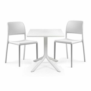 The Clip Bora Bistro 2-Seater Set in White