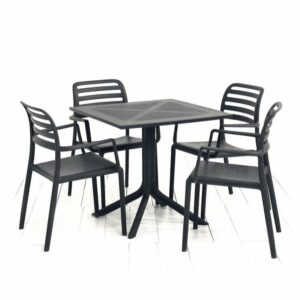 The Clip Costa Armchair 4-Seater Patio Set in Charcoal
