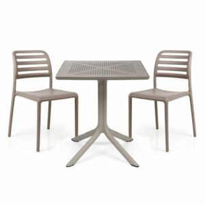 The Costa Clip 3 Piece Balcony Set in Taupe