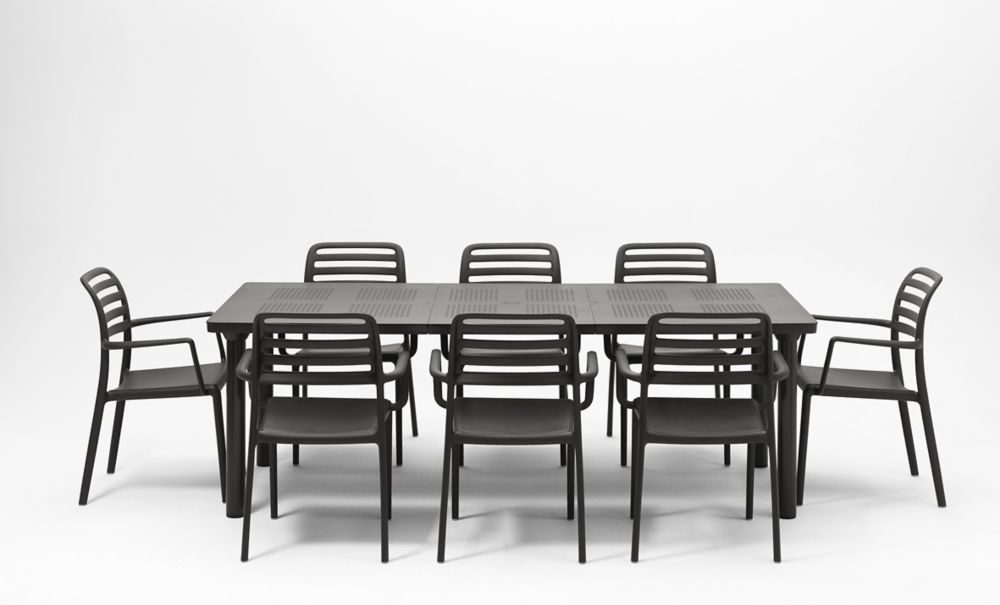 Levante Costa 9 Piece Dining Set – Charcoal
