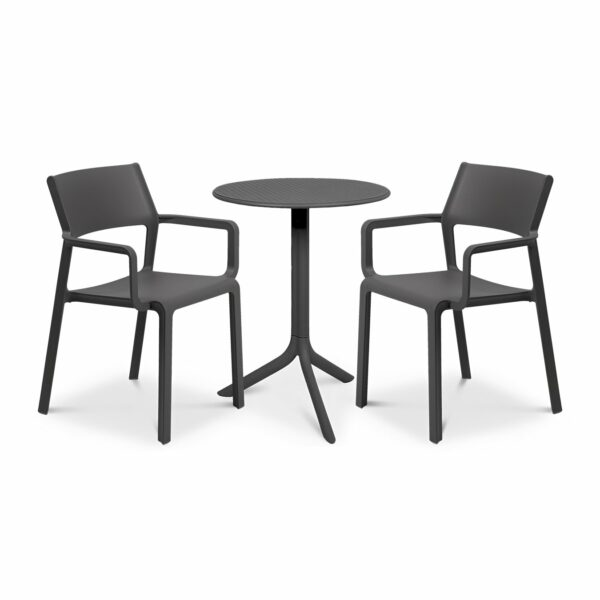 The Trill Step 3-Piece Patio Set in Charcoal