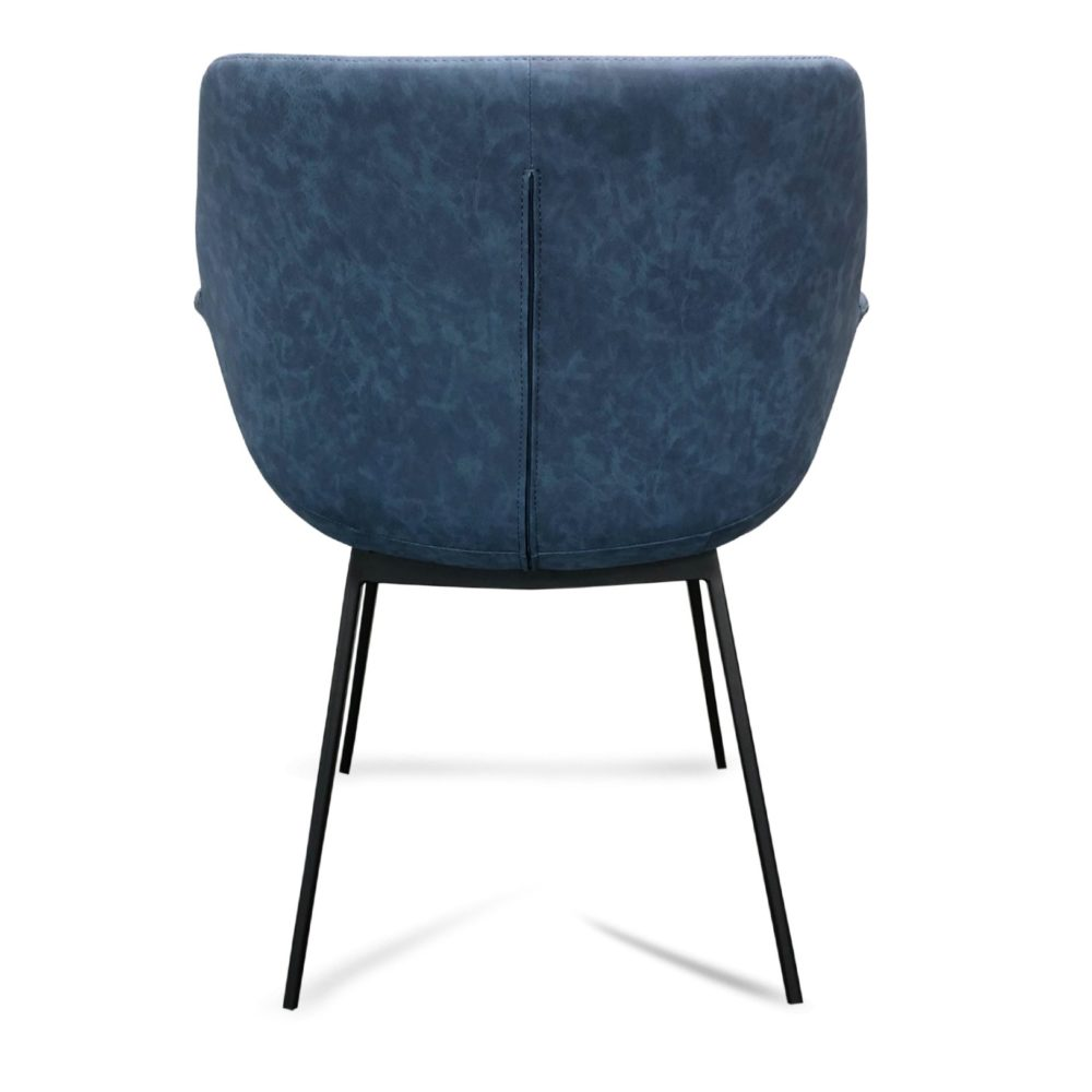 Mendoza Dining Chair – Blue (Back View)