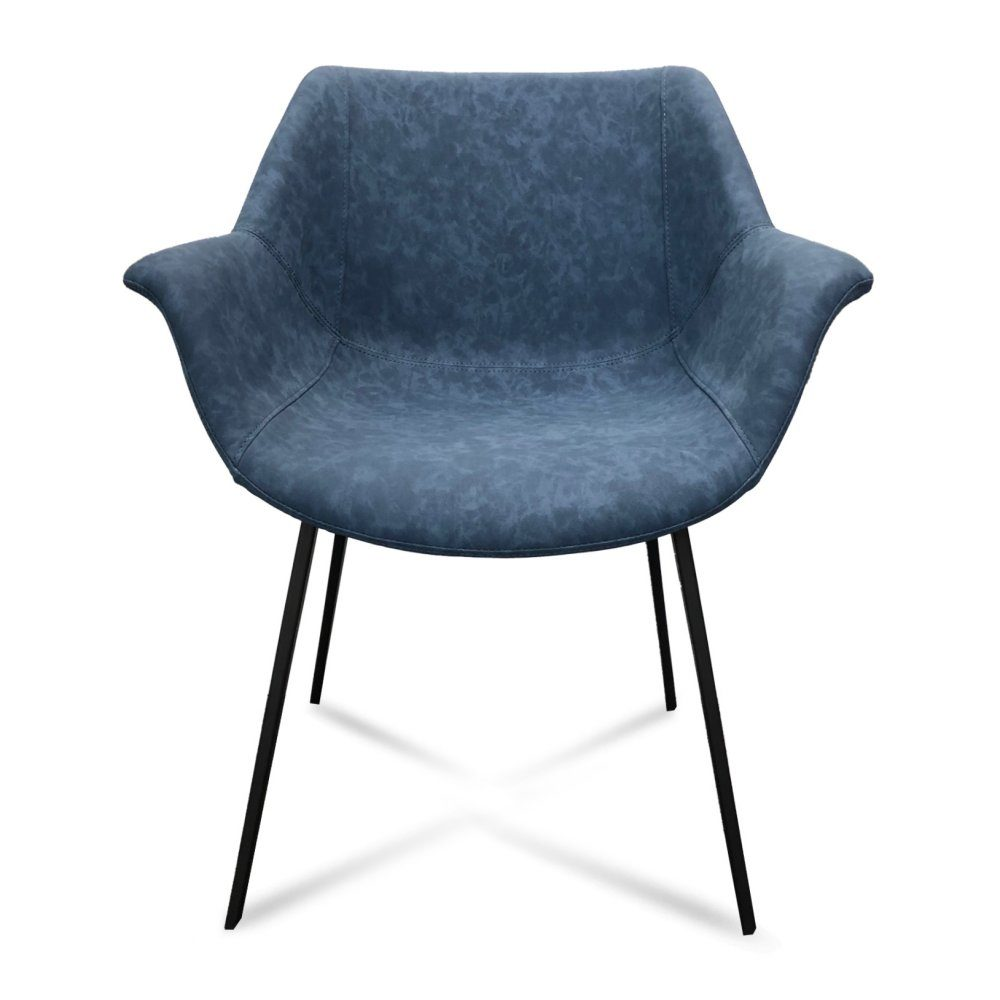 Mendoza Dining Chair – Blue (Front View)