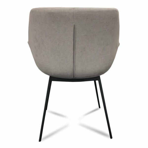 Mendoza Dining Chair - Light Grey (View from Back)