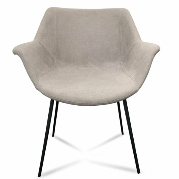 Mendoza Dining Chair - Light Grey (View from Front)