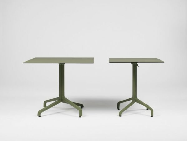 Frasca Mini and Frasca Maxi Folidng Table Bases in Olive Green