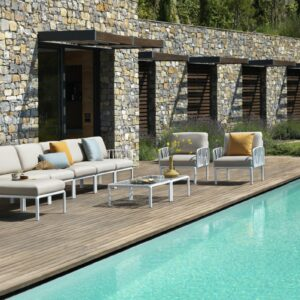 Outdoor Lounge Furniture - Komodo 11-Piece Modular Sofa & Coffee Tables
