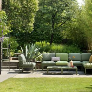 Modular Outdoor Couch Sofa - Komodo 8-Piece in Olive Green