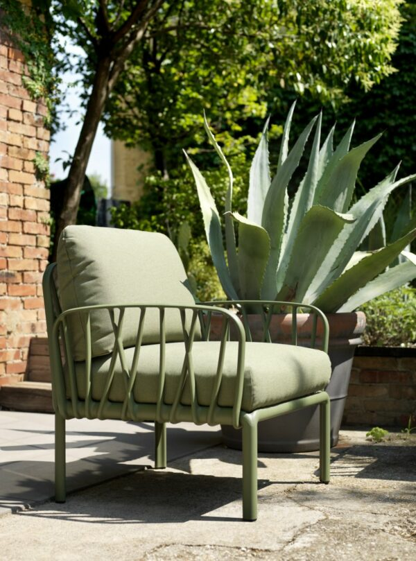 Outdoor Lounge Furniture - Komodo Modular Arm Chair in Olive Green
