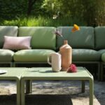 Komodo 8-Piece Outdoor Lounge Set with Coffee Tables – Olive Green