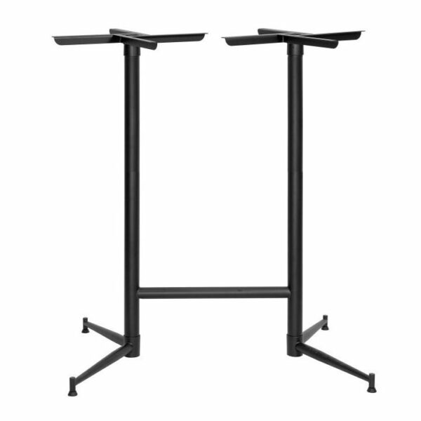 Tasman Double Bar Leaner Base - Black