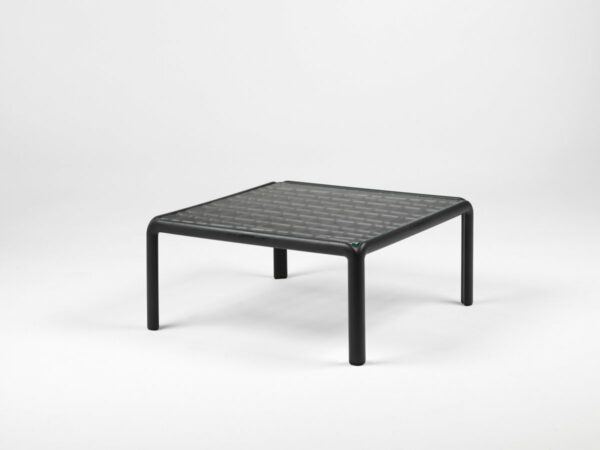 Outdoor Coffee Table - Komodo Glass Outdoor Coffee Table in Charcoal