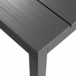 Rio Alu 210-280 Table Top Texture Charcoal Colour