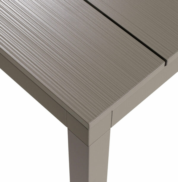 Outdoor Dining Table - Rio Alu 210-280 Table Top Texture Taupe Colour