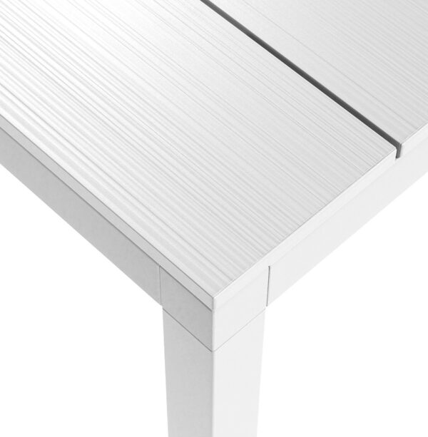 Outdoor Dining Table - Rio Alu 210-280 Table Top Texture in White