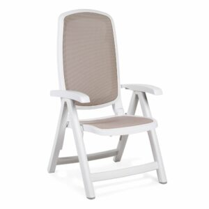 NARDI Delta Chair - White & Taupe